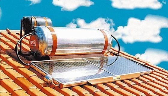 Chuveiro com aquecimento solar